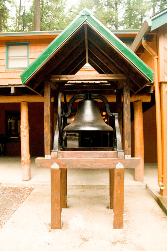 Bell outside dining hall