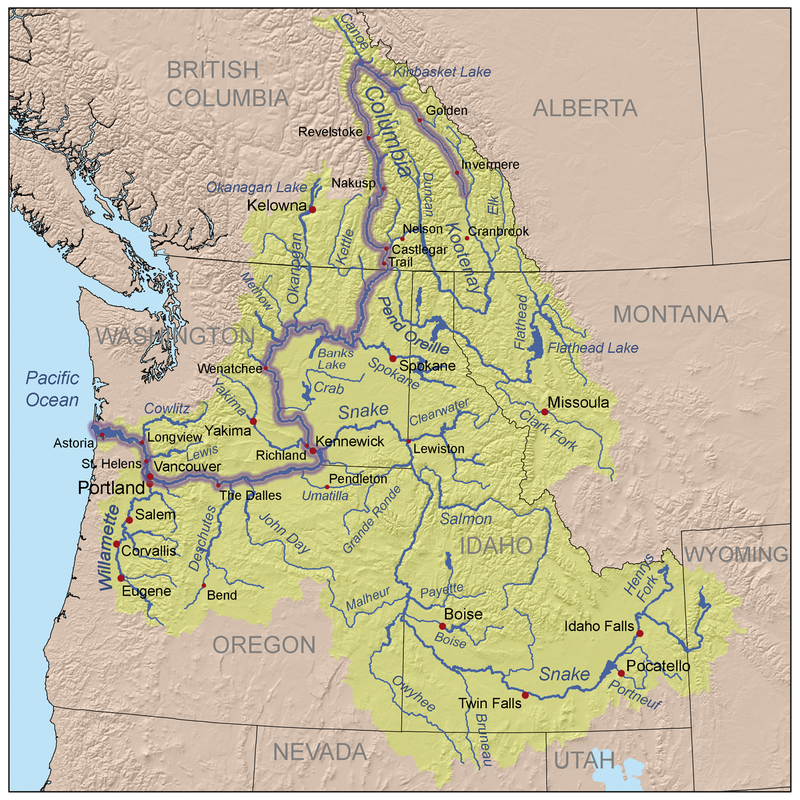 Columbia River Watershed Map